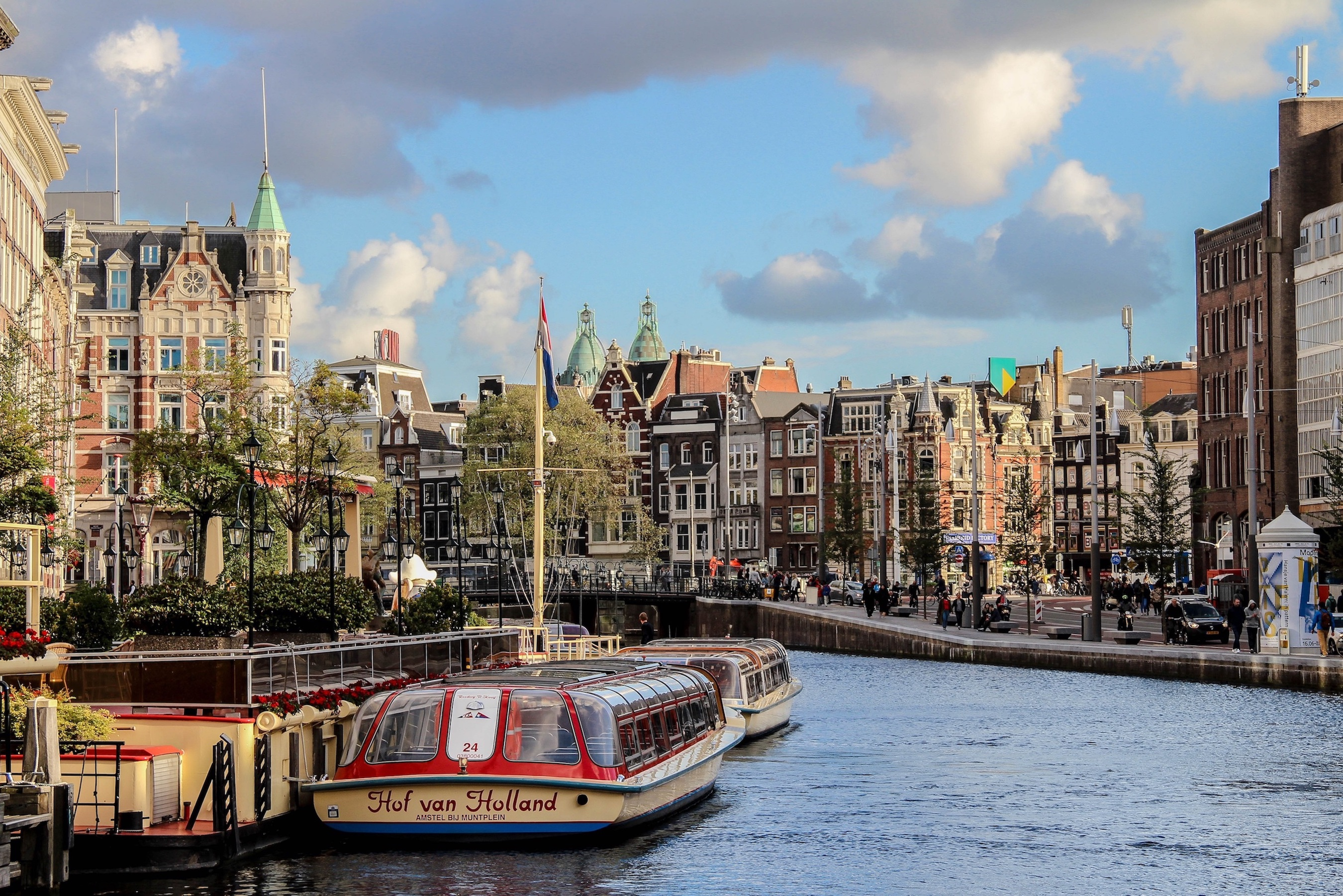 Canal Cruise is one of the most famous tour in Amsterdam, the Netherlands.